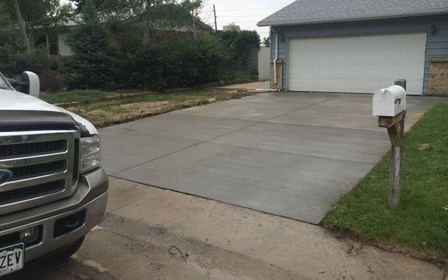 Concrete Driveway Construction Contractor Colorado