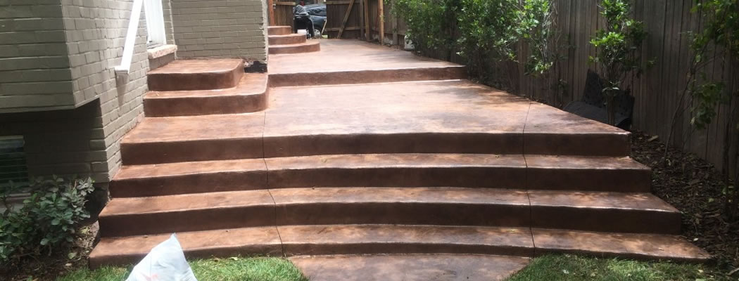 ... Decorative Concrete Patio Feature ...