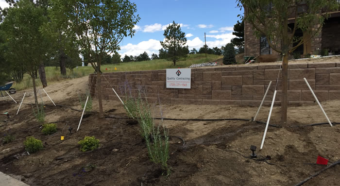 Retaining Wall Construction Aurora Colorado