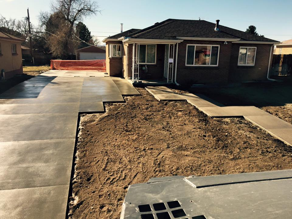 Sandstone Finish Driveway - Quality Contracting Concrete and