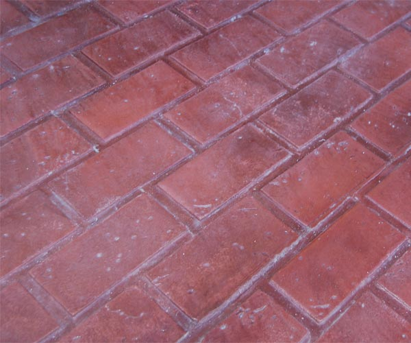 stamped concrete designs Running Bond Brick
