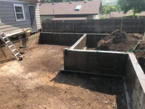 Finished Poured Foundation